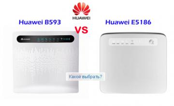 4G LTE WIFI роутеры Huawei B593 и Huawei E5186: сравнение, основные функции и характеристики