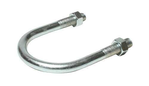 U-bolt, U образный болт-скоба из M6 для труб d=60мм оцинкованный